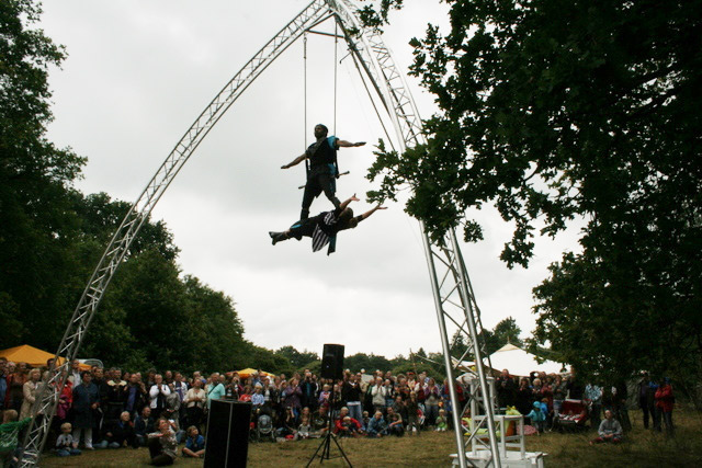 Spectaculaire trapeze act